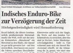 Indisches Enduro-Bike (OÖNachrichten)
